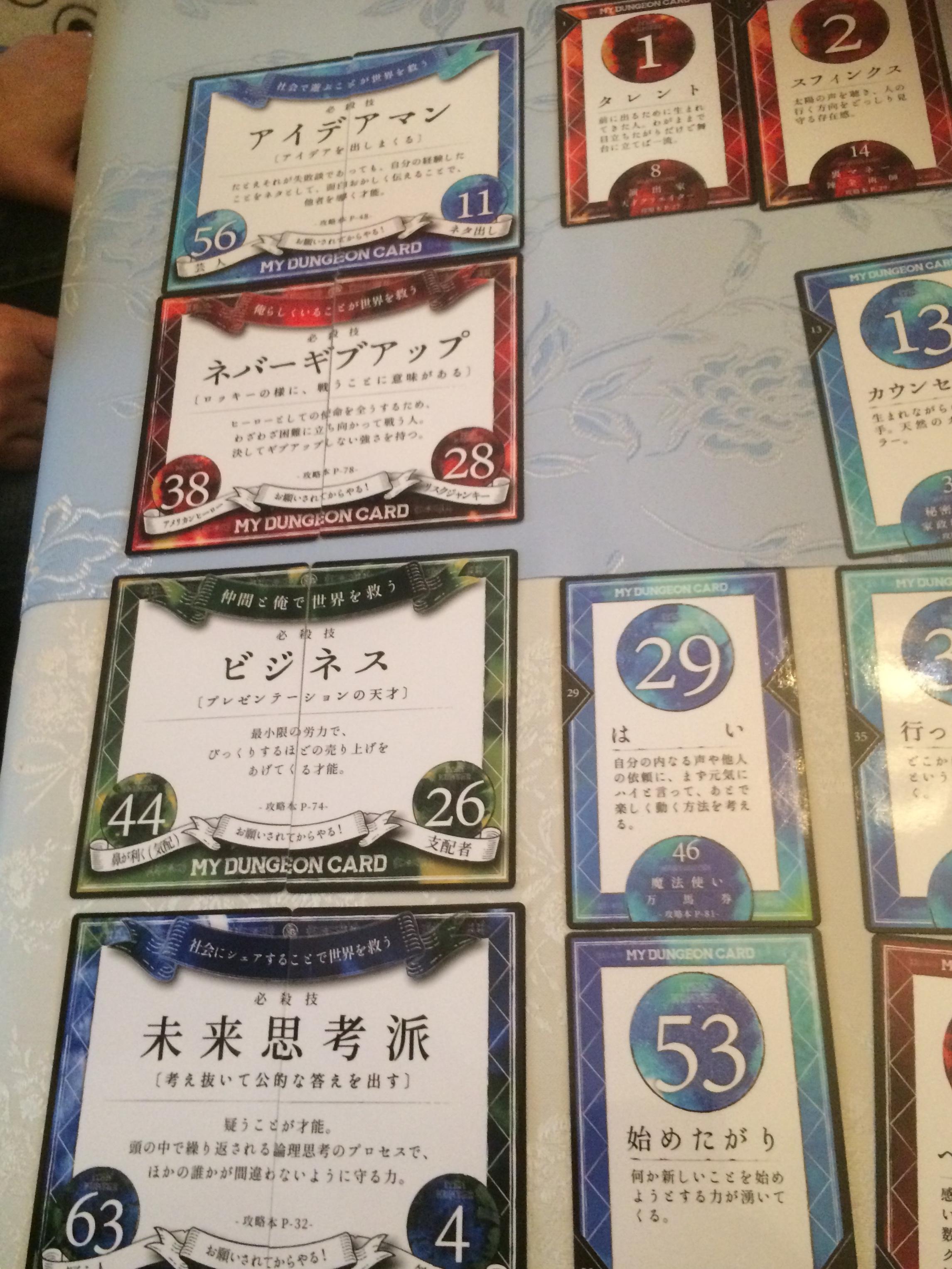 フューマンデザインカード社のマイダンジョンカード